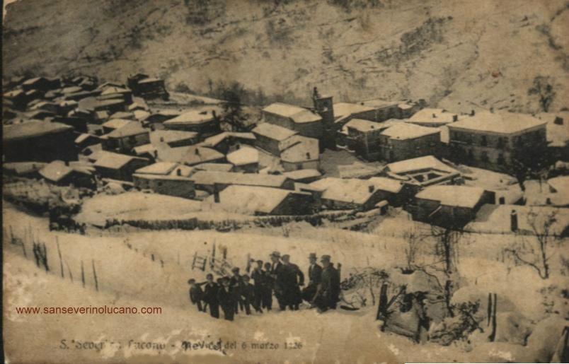 San Severino Lucano PANORAMA NEVICATA DEL 6 MARZO 1926